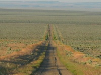 We are now in Hart Mountain Antelope Refuge, but the road looks no different, gravel, grass, and sagebrush.