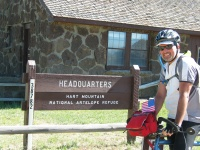 Marty in front of the headquarters as we prepare to leave the Refuge.