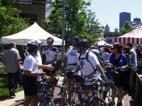 Mayor Greets Riders upon Arrival